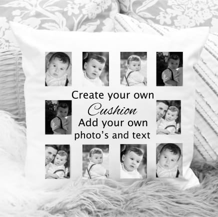Create your own collage cushion