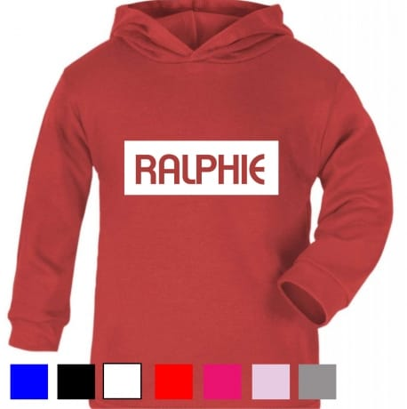 Personalised kid's name hooded T-shirt