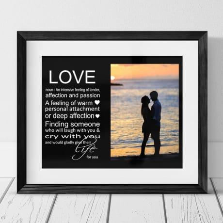 Love noun : Frame, Block or Plaque