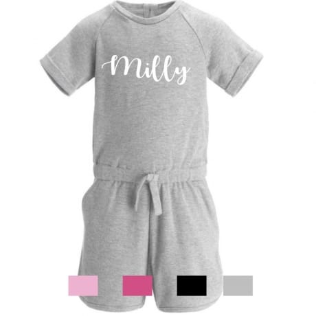 Personalised embroidery name playsuit