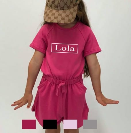 Personalised kid's name playsuit