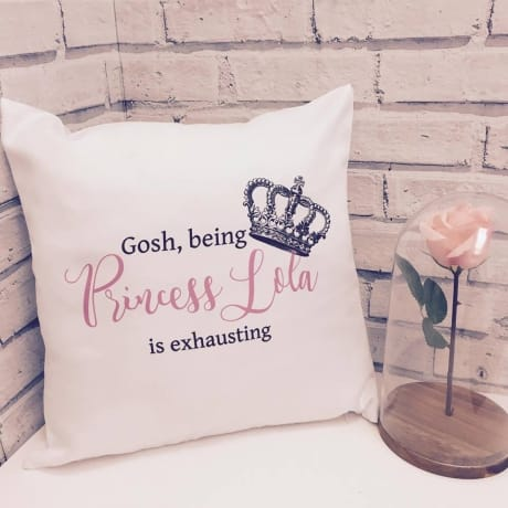 Any name - Princess Cushion