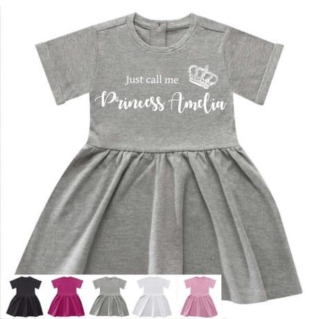 Personalised princess dress