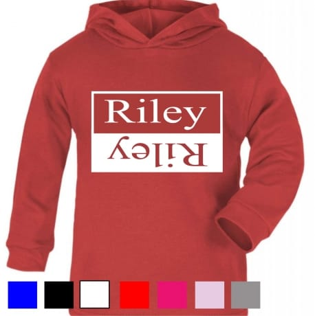 Personalised double name hooded T-shirt