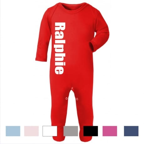 Personalised large name rompersuit