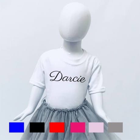 Personalised decorative font T-shirt