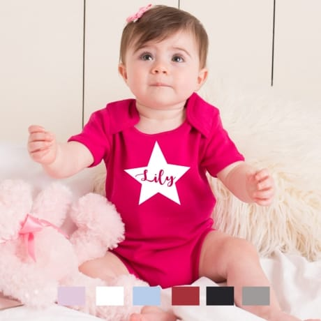 Personalised star name bodysuit