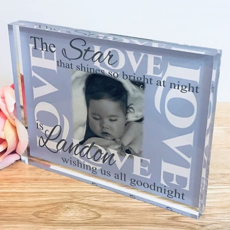 Remembrance photo block - The star that shines..