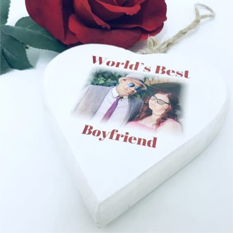 Personalised wooden heart for the best Boyfriend/Girlfriend