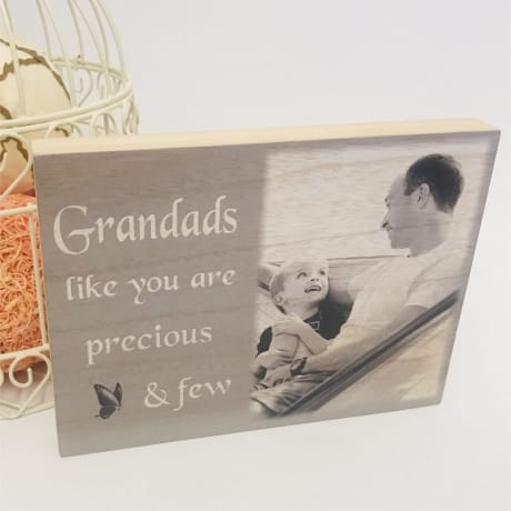 Personalised Wooden block - Precious and few
