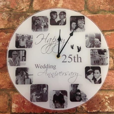 Personalised clock - Happy Anniversary