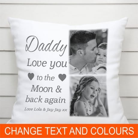 Personalised Cushion - Moon & back again