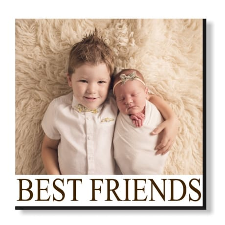 Pic N Mix Photo tiles - Best friends, all text is editable