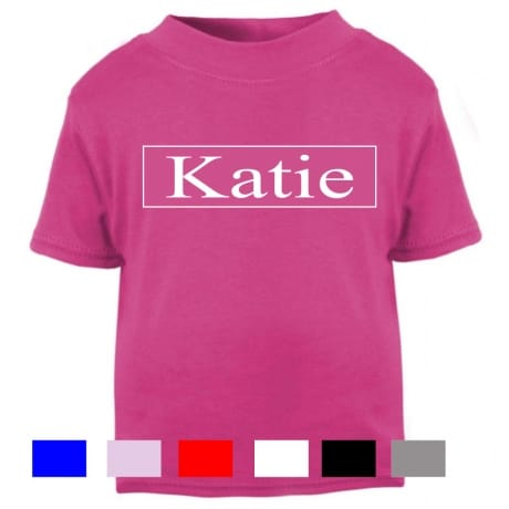 Personalised name T-shirt