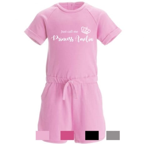 Personalised princess playsuit