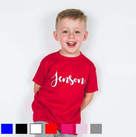 Personalised embroidery name T-shirt