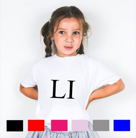 "Personalised ""large initials"" T-shirt"