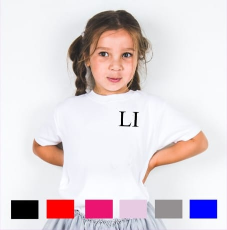 Personalised embroidery initials T-shirt