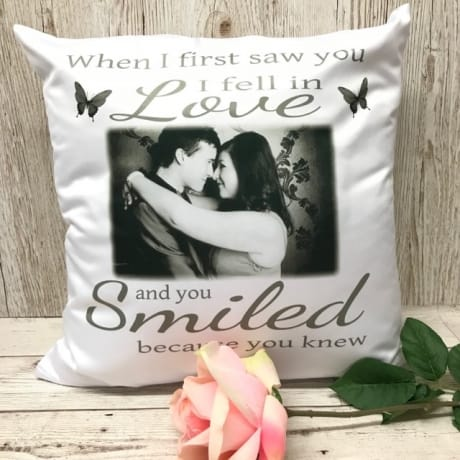 Personalised Photo Cushion : When I first saw you