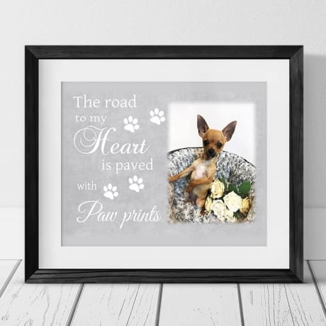 The road to my heart Pet photo frame