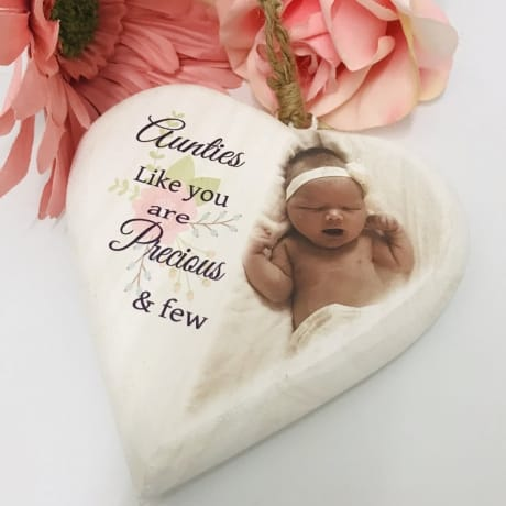 Personalised wooden heart - Precious and few